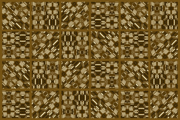 Colored African fabrics with geometric shapes