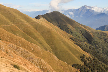 Alpenlandschaft (Il Giovo und Monte Legnone)