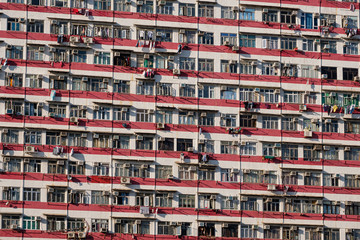 Residential buildings in Yaumatei, Hong Kong