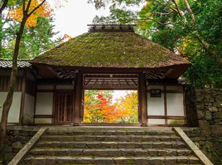 秋の京都 法然院 山門