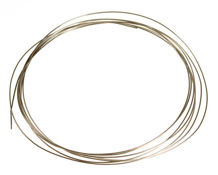 oval frame from silver wire on white background