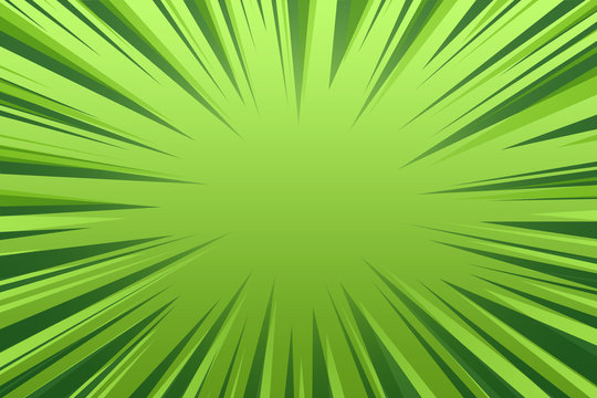 comic style zoom green lines for background abstract