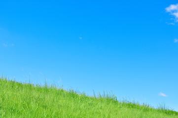Printed kitchen splashbacks Light blue 青空と雲と土手の背景素材 暑中見舞い テンプレート