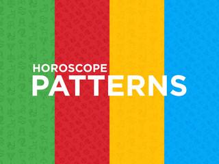 Horoscope seamless pattern with thin line icons. Zodiac signs: capricorn, aquarius, aries, pisces, virgo, libra, scorpio, sagittarius, taurus, gemini, leo. Modern vector illustration.