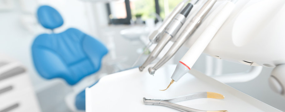 Dentist office. Dental tools, accessories