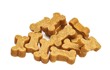 mouthwatering treats for the dog in the shape of a bone
