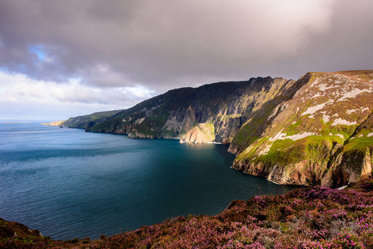 Slieve league cliffs in Donegal county