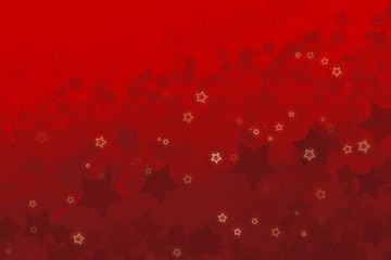Red Christmas Background with Snow Flake Design