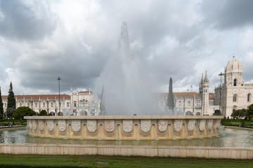 Die Parkanlage Praca do Imperio im Stadtteil belem von Lissabon