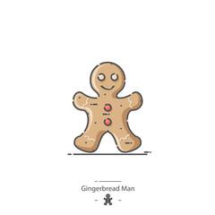 Gingerbread Man - Line color icon