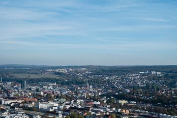Panorama view of city pforzheim
