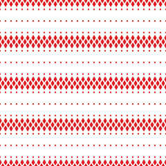 Photo sur Plexiglas Style Boho Red and white geometric pattern. Seamless pattern vector.