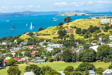 Auckland - Segelboote vor Devonport in Neuseeland