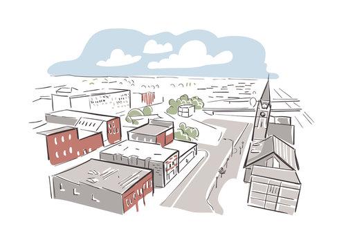 Cheyenne Wyoming usa America vector sketch city illustration line art