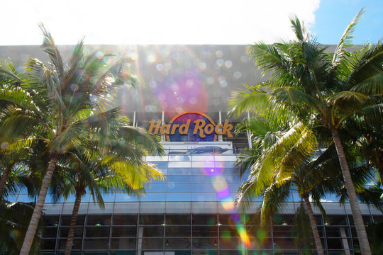 USA, Miami, October 2019: Hard Rock Stadium which will host the 2026 World Cup games