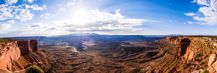 grand canyon panoramic picture in summer
