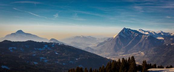 Mountain landscape, winter, France, D3dec