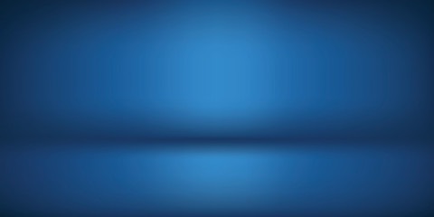 minimal clean dark navy blue blank for designers. Background empty room studio with modern space for text, picture, product, gallery, banner, presentation, offer. copy space. illustration 3d Vector