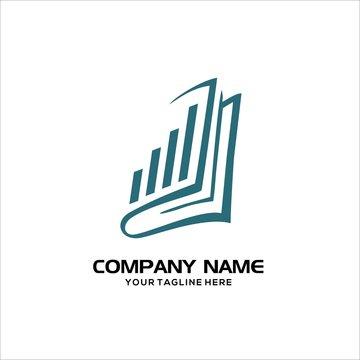 book accounting vector logo