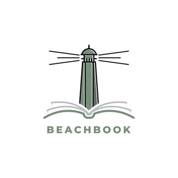 Beacon with book logo design inspiration