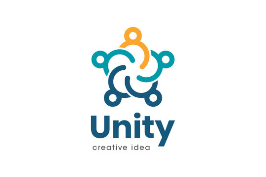 Creative Unity Concept Logo Design Template