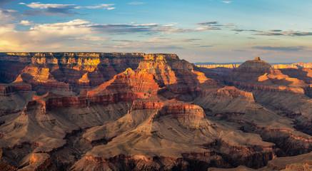 Setting sun, Grand Canyon National Park - Shoshone Point