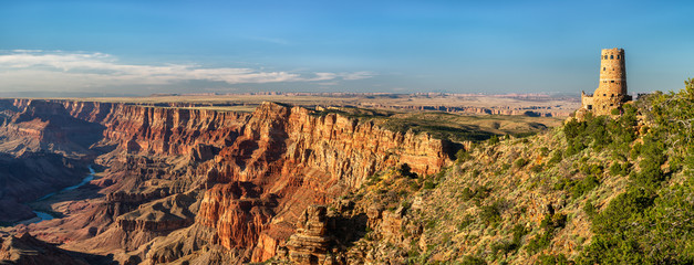 Desert View Watchtower panorama - Grand Canyon National Park Wall mural