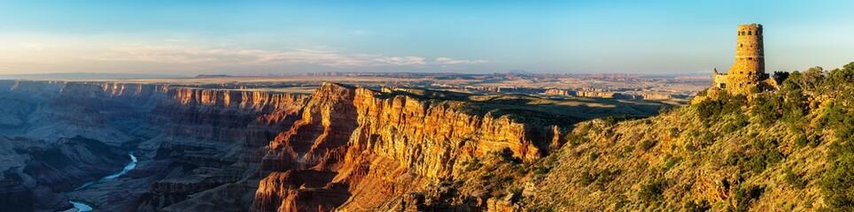 Desert View Watchtower panorama sunset - Grand Canyon National Park Wall mural