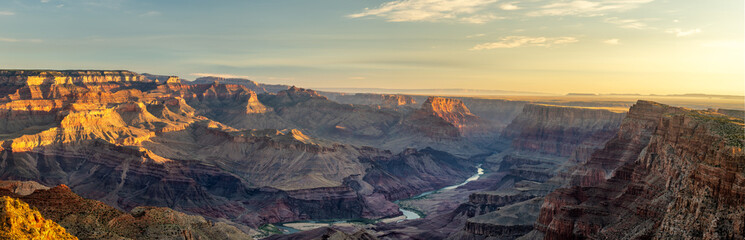 Panorama of First Light Grand Canyon Dawn from Desert View Wall mural