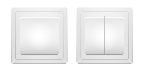 Wall switch realistic light switch vector illustration