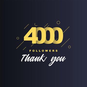 4000 Followers thank you