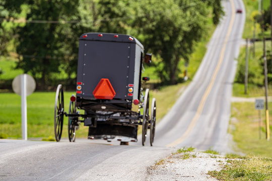Slow Moving Amish Buggy