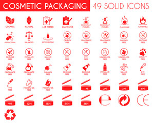 Cosmetic Packaging Icon Set