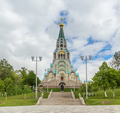 Saint Sophia Cathedral on the promenade in Samara, Russia