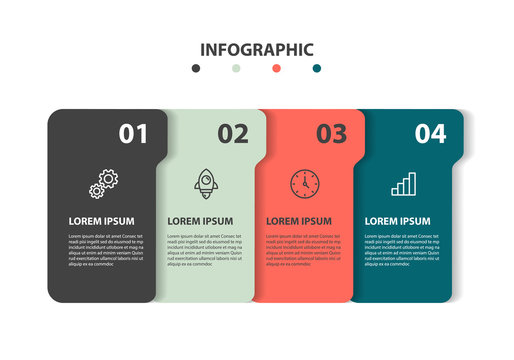 set of timeline infographic 5 step icons
