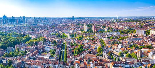 Keuken foto achterwand Brussel Brussels panoramic cityscape, Belgium