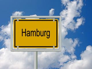 Hamburg, Ortseingangsschild