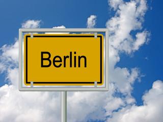 Berlin, Ortseingangsschild