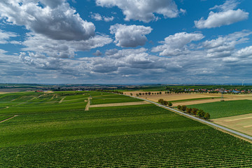aerial agriculture landscape in germany