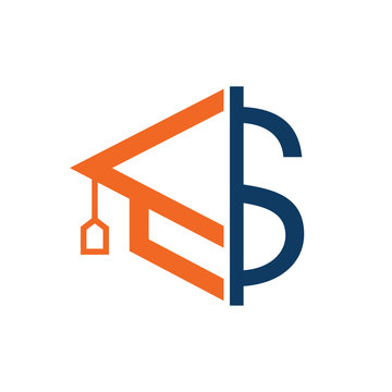 Graduation Cap Money Icon Vector Design. Scholarship logo concept design.
