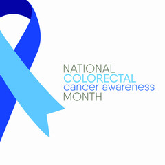 Vector illustration on the theme of Colorectal Cancer awareness month of March.