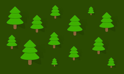 Background with many trees - Vector