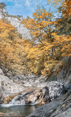 Great Crimean Canyon.  Youth Bath - Kara-gol in the Grand Canyon of Crimea, the village of Sokolinoye, Bakhchisarai district