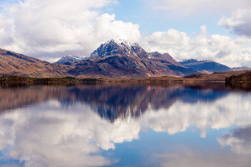 Slioch viewed across beautiful Loch Maree, Scotland