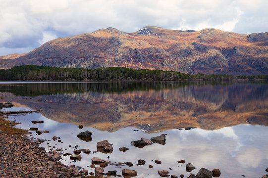 View from Loch Maree picnic site, Slattadale