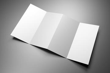 Leaflet/ brochure/ leaflet mockup (4 x DL, 4 x 99x210 mm) - 3D rendering