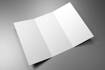 Leaflet/ brochure/ leaflet mockup (3 x DL, 3 x 99x210 mm) - 3D rendering