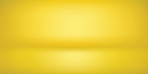 minimal clean gradient lemon yellow blank Background. empty room studio with modern space for text, picture, product, gallery, banner, presentation, offer. copy space. illustration 3d Vector