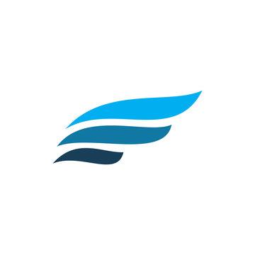 color modern wing logo design