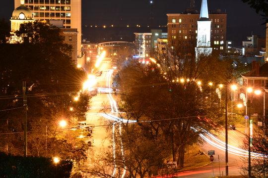 Night in the City of Macon Georgia